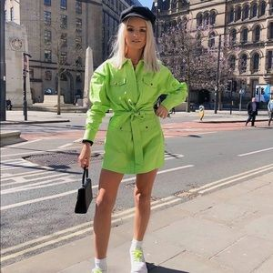 Missguided Lime Green Dress